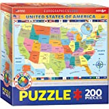 Eurographics 6200-0651 - Map of the United States - puzzle per bambini 200 pezzi
