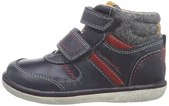 Geox B Flick Boy B - Zapatillas de cuero para niño, Azul (c4075dk navy/red), 26: Amazon.es: Zapatos y complementos