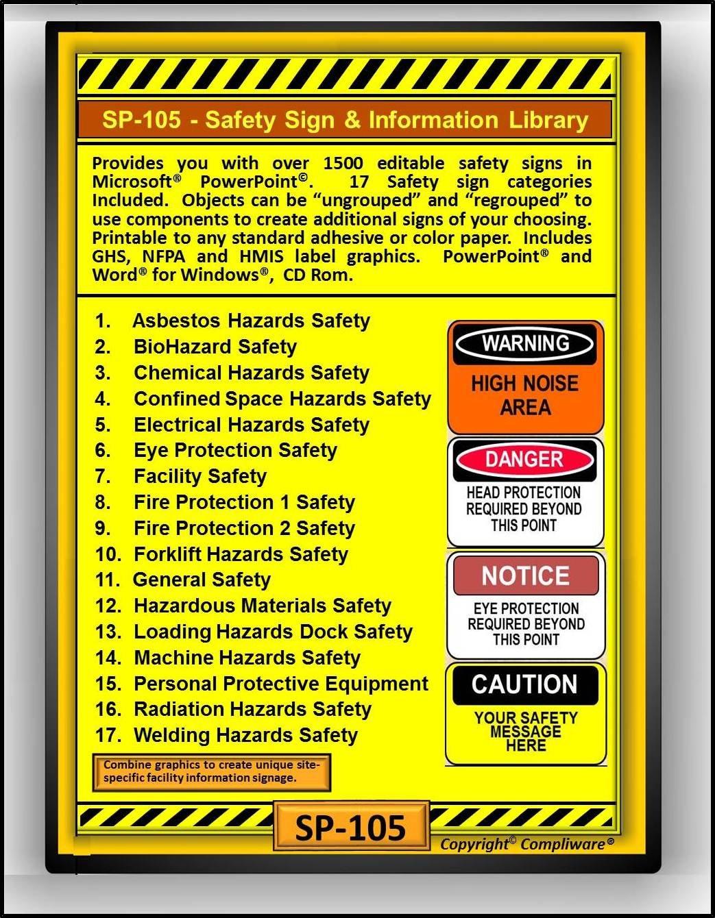 Amazon com: SP-105 - SAFETY SIGN LIBRARY - OSHA - 29 CFR