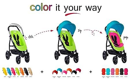 phil teds Smart Customizable Frame Stroller, Black
