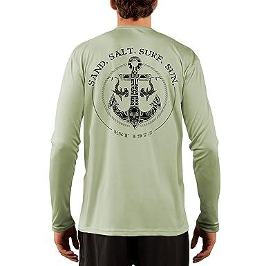 5334d366 SAND.SALT.SURF.SUN. Shark Anchor Men's UPF 50+ Long Sleeve T-Shirt ...