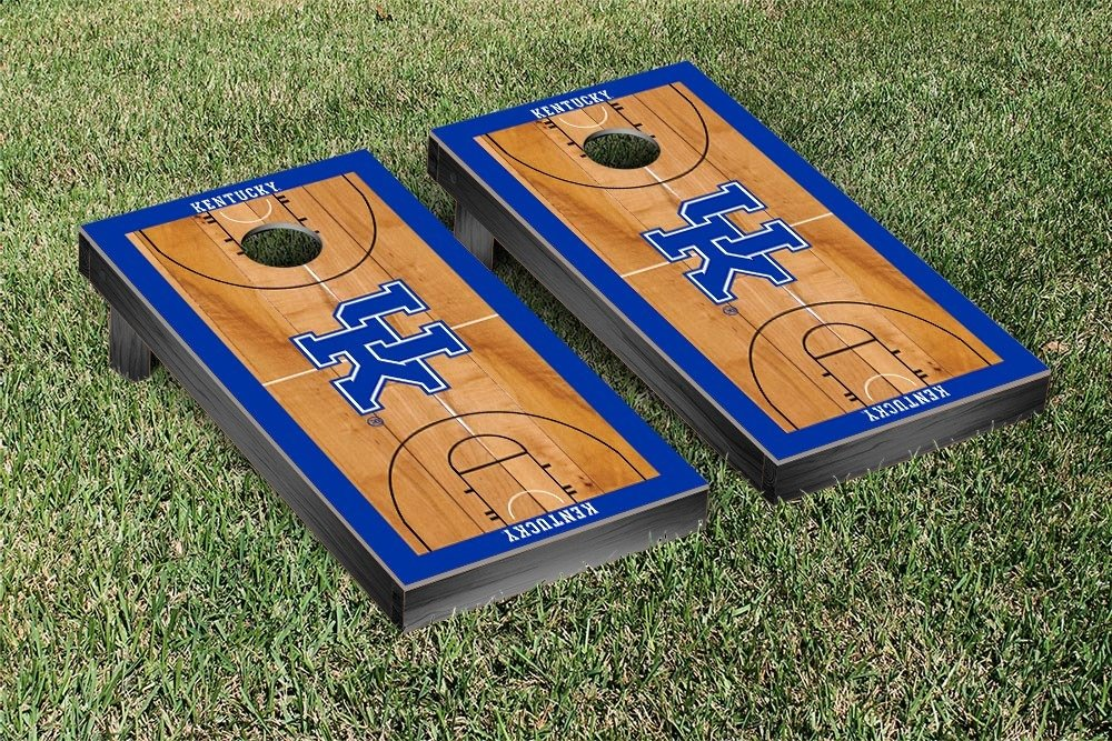 Kentucky UK Wildcats Regulation Cornhole Game Set Basketball Court Version by Victory Tailgate