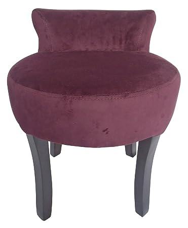 Amazon.com: Lux Home Velvet Vanity Stool, Purple: Kitchen & Dining