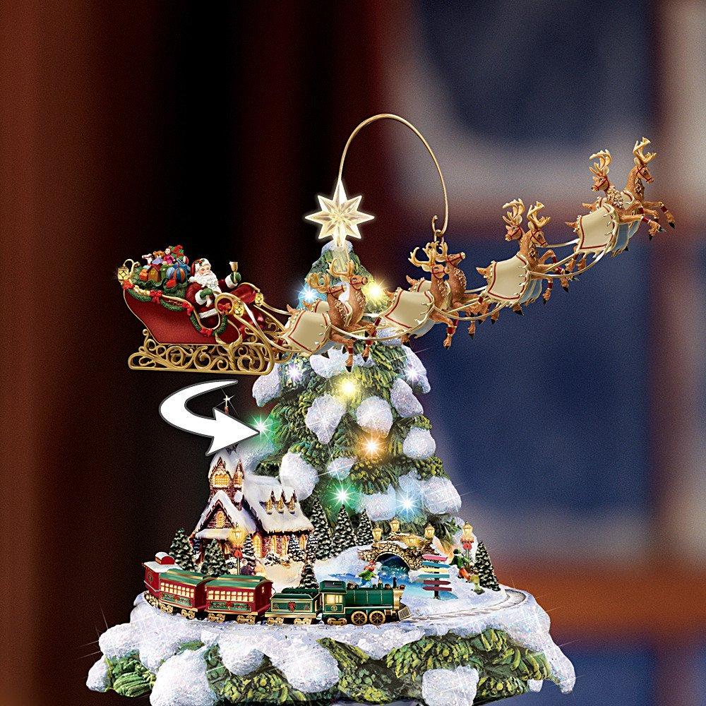 Thomas Kinkade Wonderland Express Animated Tabletop Christmas Tree With Train by Hawthorne Village by Hawthorne Village (Image #1)