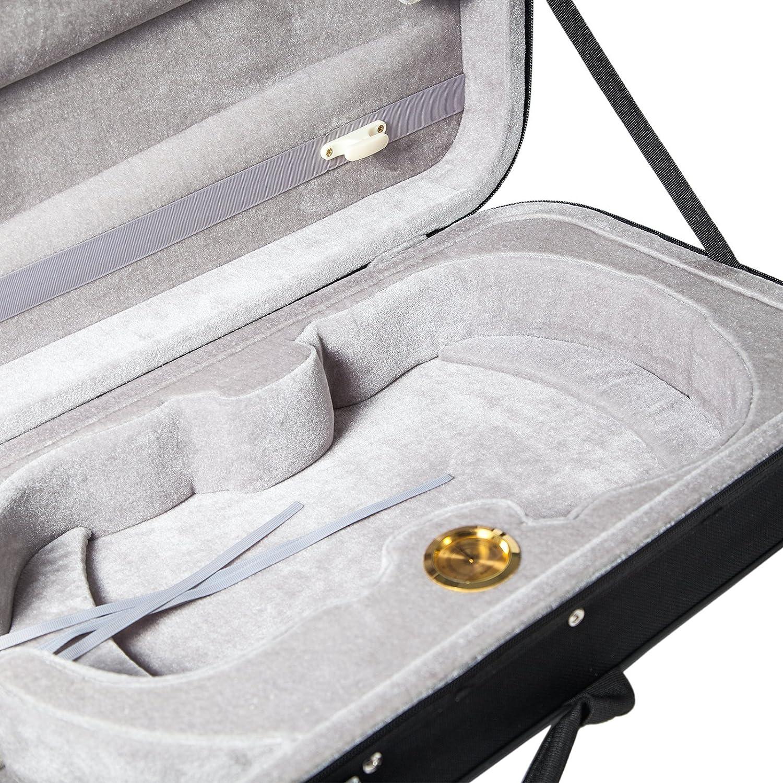 SKY 15.5-16 Inch Viola Oblong Case Lightweight with Hygrometer Black//Grey