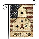 "Briarwood Lane Americana Welcome Garden Flag Primitive Patriotic 12.5"" x 18"""