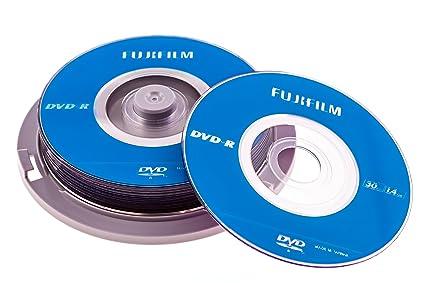 amazon com fujifilm 25302410 8cm dvd r 10 disk spindle pack 1 4gb