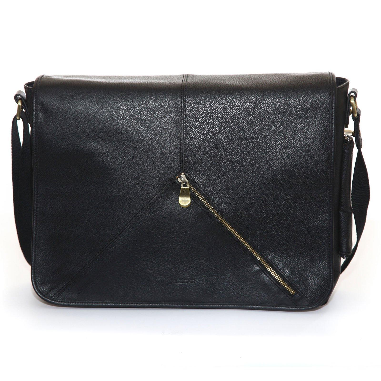 Jill-e Designs Sasha 13'' Leather Laptop Bag, Black (419453)