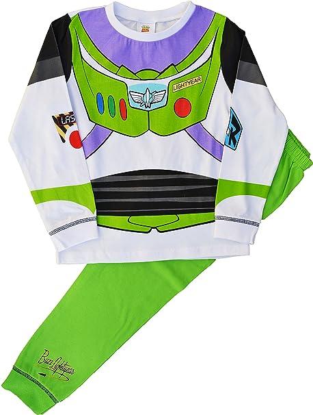 Buzz Lightyear Pijama Novedad Disfraz Toy Story Conjunto Pijama - blanco, Verde, 2-