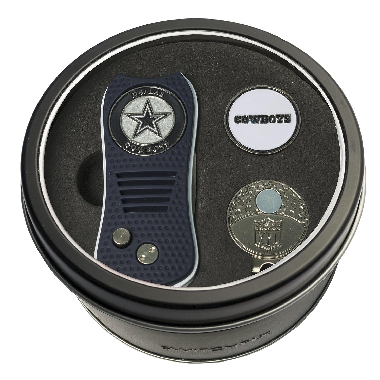 NFL Tinギフトセットwith switchfix Divot Tool、キャップクリップ、ボールマーカー B06XXKJGB8 Carolina Panthers