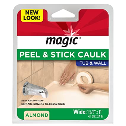 Amazoncom Magic Tub And Wall Peel Caulk Strip Create A Tight - Bathroom caulking service
