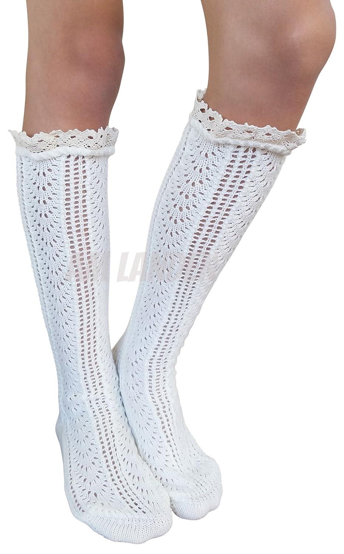 AM Landen Thick Knee High Socks Mid-Calf Socks Tube Lace Socks ...
