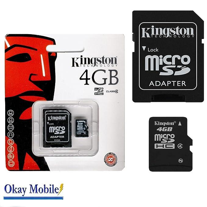 Original Kingston MicroSD Tarjeta De Memoria 4 GB para Samsung ...