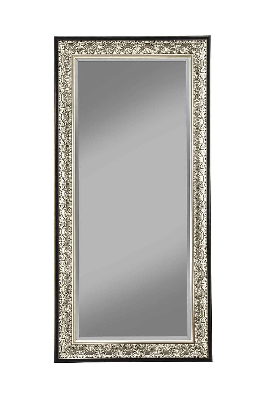 Sandberg Furniture Wall Monaco Full Length Leaner Mirror, Antique Silver/Black