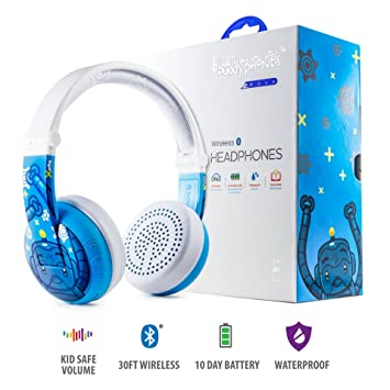 Auriculares Wireless Bluetooth para niños - BuddyPhones Wave | Azul