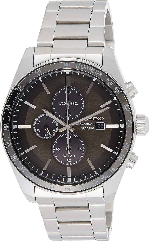 Seiko Reloj Cronógrafo para Unisex Adultos de Cuarzo con Correa en Acero Inoxidable SSC715P1