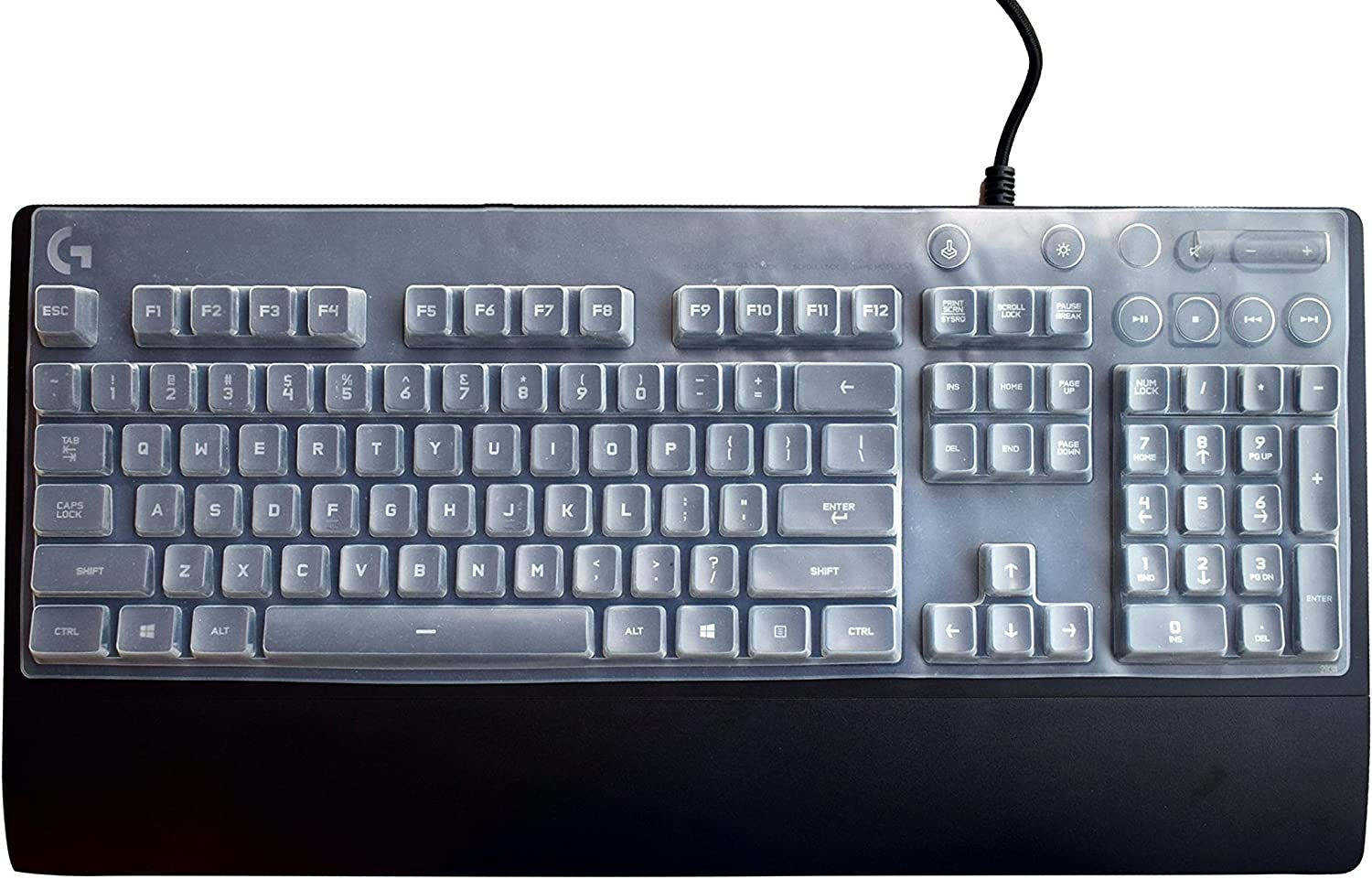 Ultra Thin Keyboard Cover for Logitech G810 Keyboard, Logitech G810 Orion Spectrum RGB Keyboard Protector- Clear
