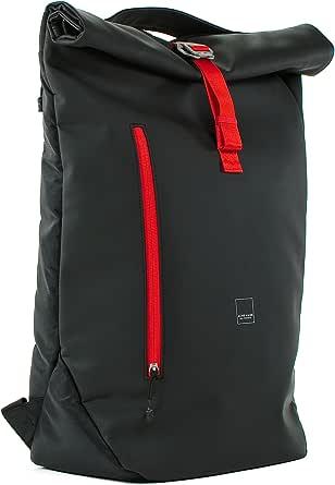 Acme Made AM20211-HT North Point - Bolsa de viaje con tapa enrollable, color negro y mandarina