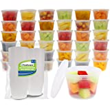 Freshware Food Storage Containers [50 Set] 16 oz Plastic Deli Containers with Lids, Slime, Soup, Meal Prep Containers | BPA F