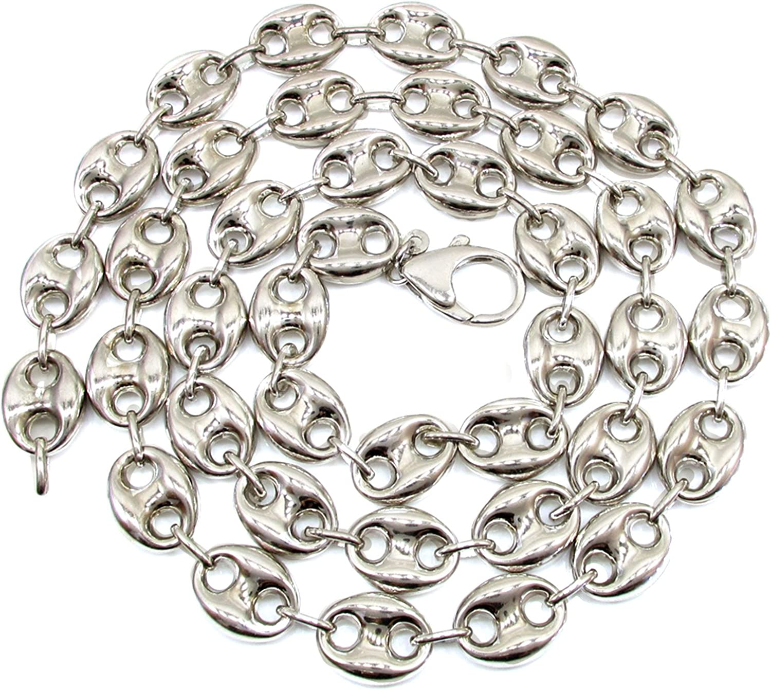 Chain Necklace or Bracelet Mariner Marina Sterling Silver 3mm Flat Anchor