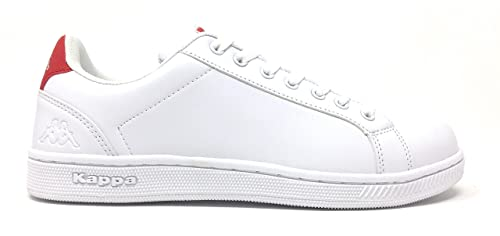 official photos 7a361 710f4 Kappa Logo GALTER 2-Col.White-Red-Scarpe da Ginnastica -Shoes- Sneakers  Unisex