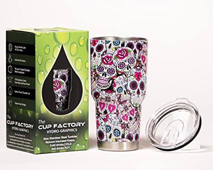 d6052076e26 The Cup Factory 18/8 Stainless Steel Hydro Dipped Vacuum Sealed Tumbler  with Sliding Splash
