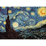Powza Classic Oil Paintings 1000 Pieces Jigsaw Puzzle - The Starry Night, Artwork Art Large Size Jigsaw Puzzle Toy for Educat