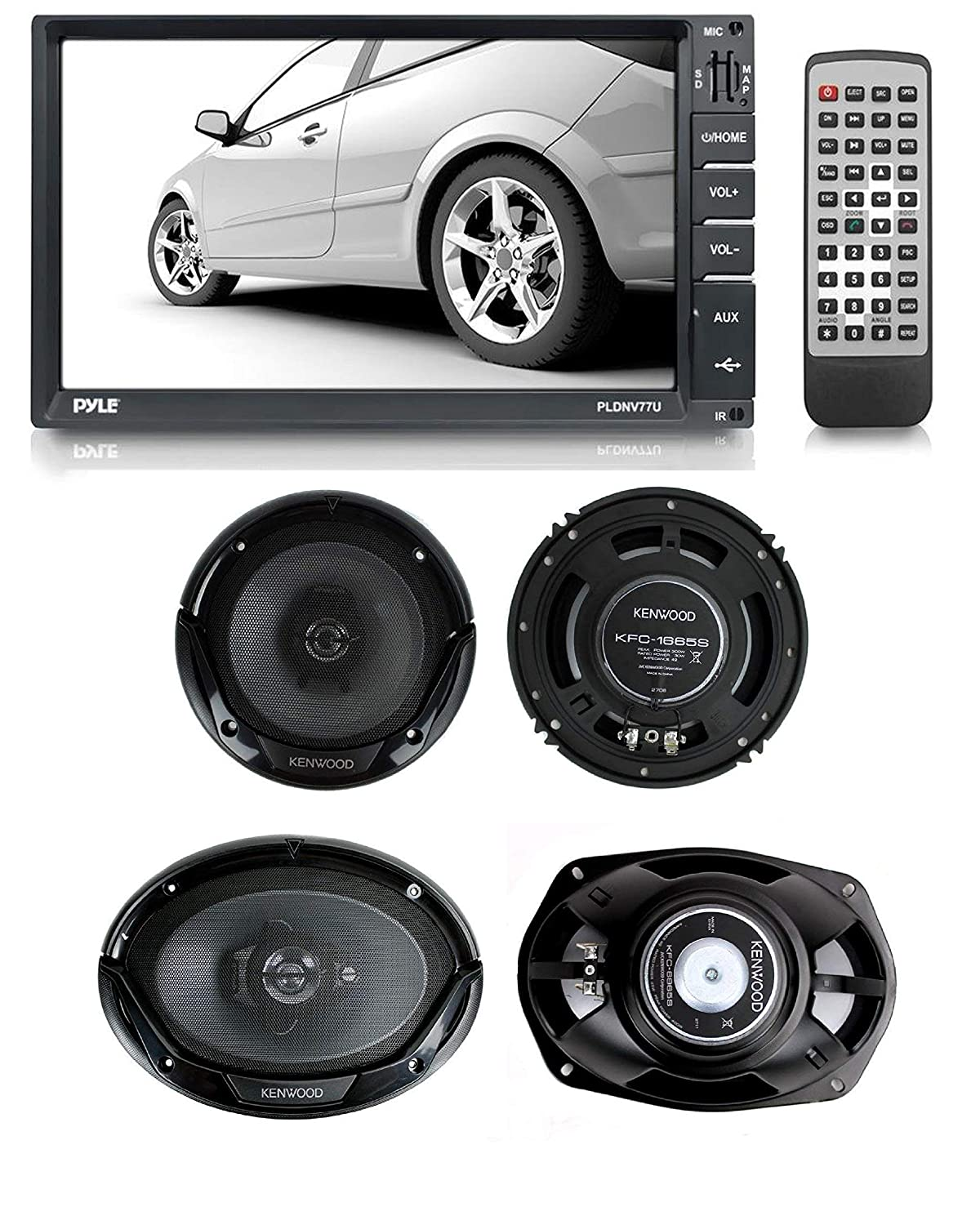 Kenwood KFC-6965S 6 x 9 Inches 3-Way 400W Speakers Pack of 2
