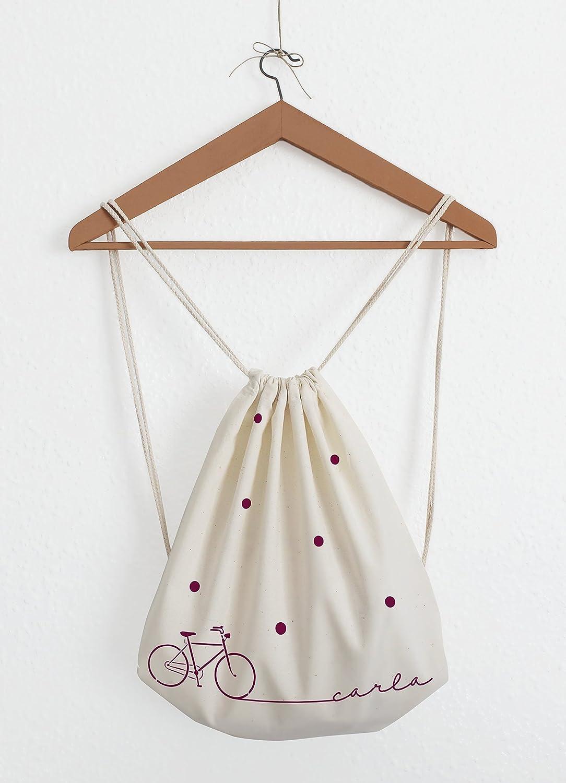 Mochila de cuerdas - Bicicleta - Personalizable con nombre: Amazon ...
