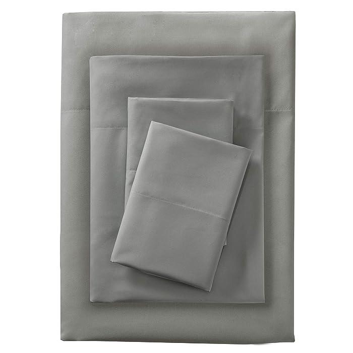 Sleep Philosophy Smart Cool Microfiber Sheet Set Grey Queen
