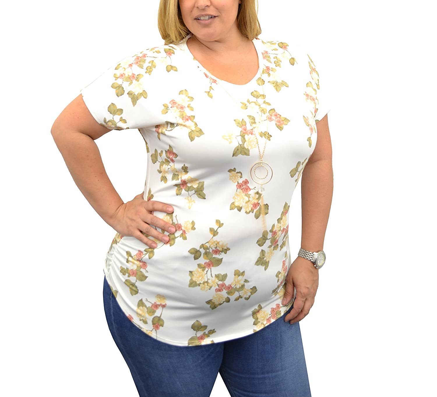 e95907d734252 Elegant Top By Urban Rose  Create a polished warm-weather look with this  plus-size shirt for women. It offers a comfortable fit and is available in  four ...