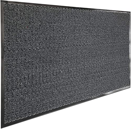 Door Mat 47 x 32 -Outdoor Indoor Entrance Floor Mat Waterproof – Low Profile Door Mat, Rubber Entrance Mat with TPR Backing, Durable Dirt Trapper Rug Welcome – Front Door, Garage, Patio, Commercial