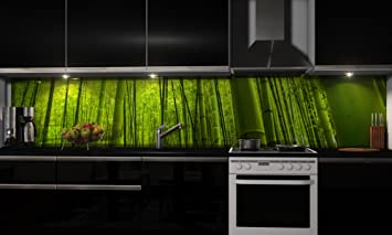 Küchenrückwand-Folie Bambus Klebefolie Spritzschutz Küche ...