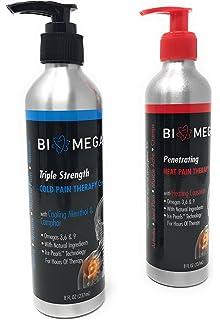 amazon com biomega penetrating heat pain therapy 8 oz per natural