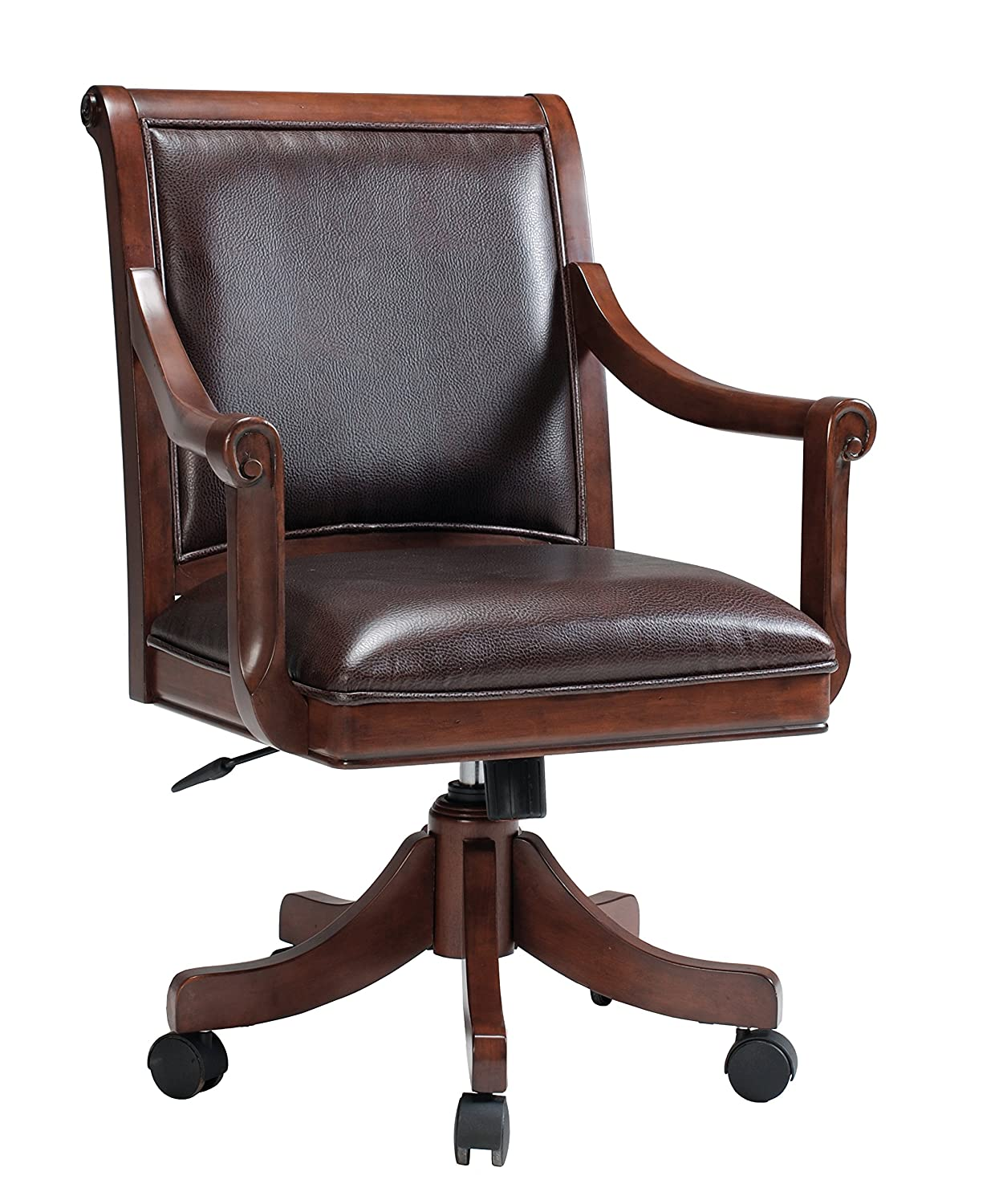 Hillsdale Palm Springs Caster Chair. Medium Brown Cherry