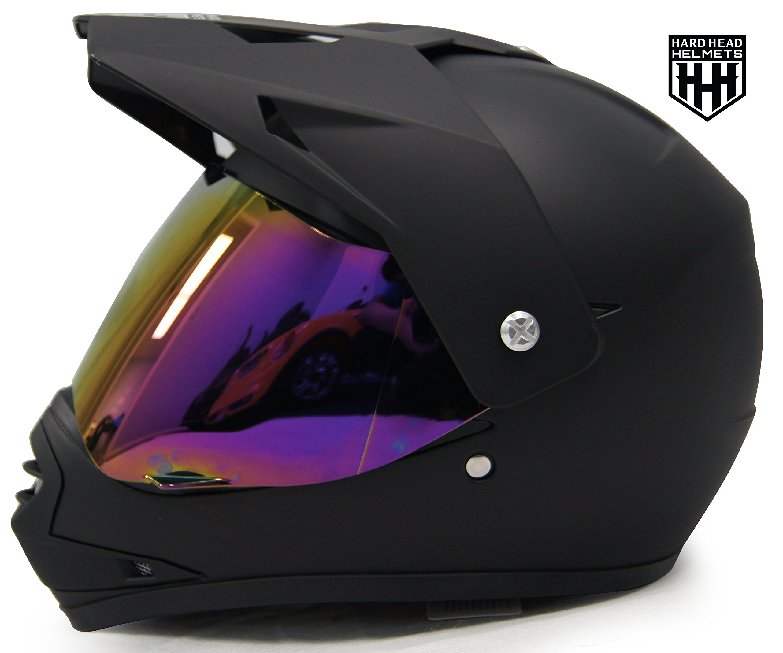 SmartDealsNow - HHH DOT Youth & Kids Helmet for Dirtbike ATV Motocross MX Offroad Motorcyle Street bike Snowmobile Helmet with VISOR (Medium, Matte Black) by HARD HEAD HELMET