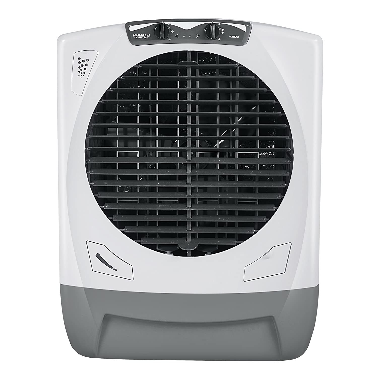 Maharaja Whiteline Rambo AC-303 65 L Air Cooler (White and Grey)