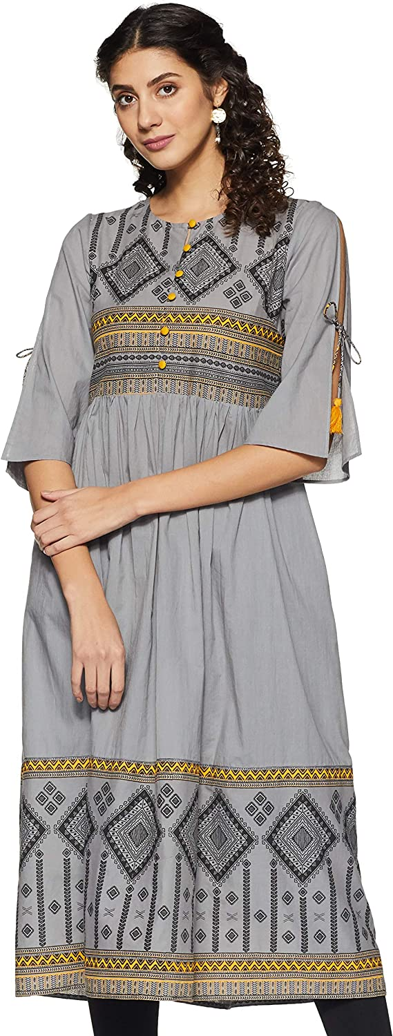 Amazon Brand – Myx Women's Relaxed Kurti