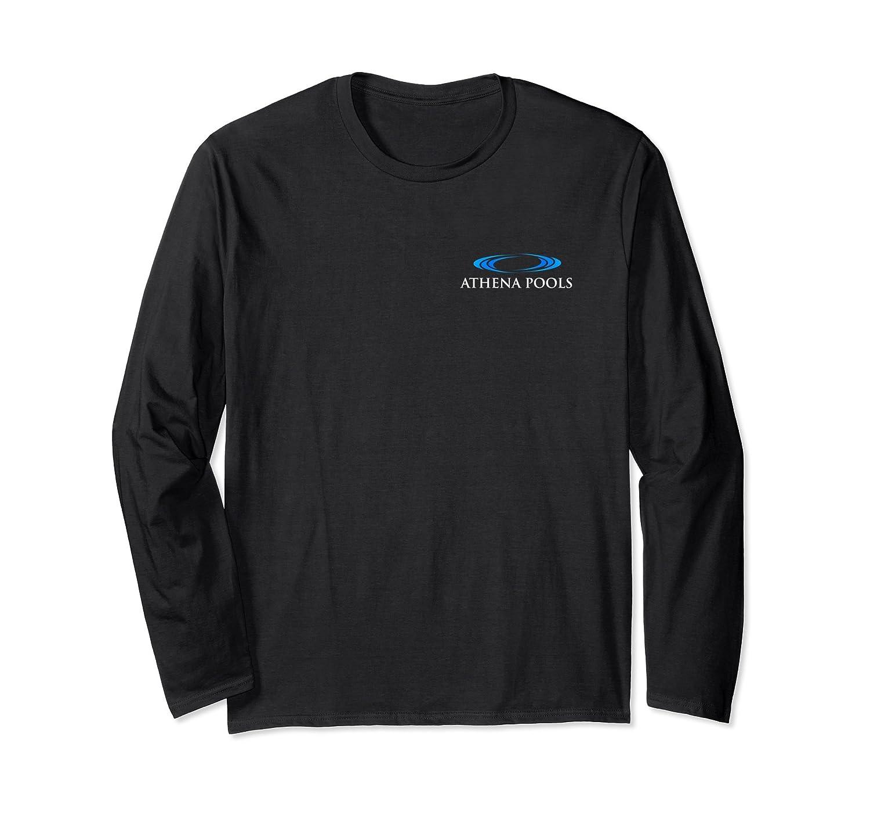 Athena Pools Long Sleeve Shirt Front & Back-Awarplus