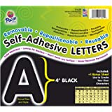 "Pacon PAC51620 Self-Adhesive Letters - Removable, Repositionable, Reusable, 4"", Black, 78 Pieces"