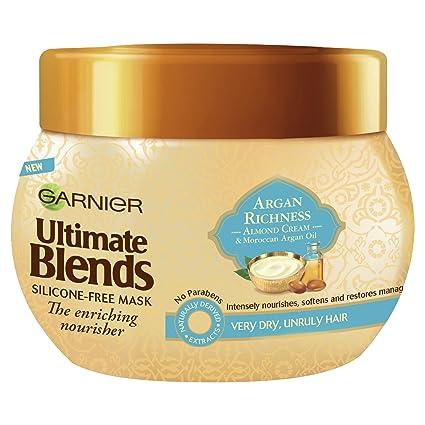 Garnier ultimate blends aceite de argán Cabello Seco y de almendro en crema tratamiento máscara,