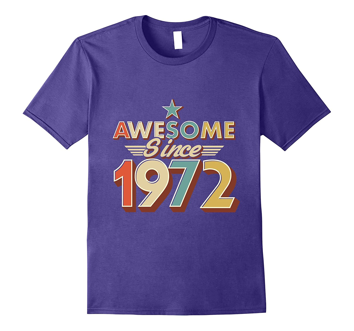 Awesome Since 1972 Vintage T-Shirt 45 Yrs old 45th Birthday-T-Shirt