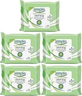 Simple Kind To Skin Cleansing Facial Wipes, Travel Pack, 7-Count (Pack