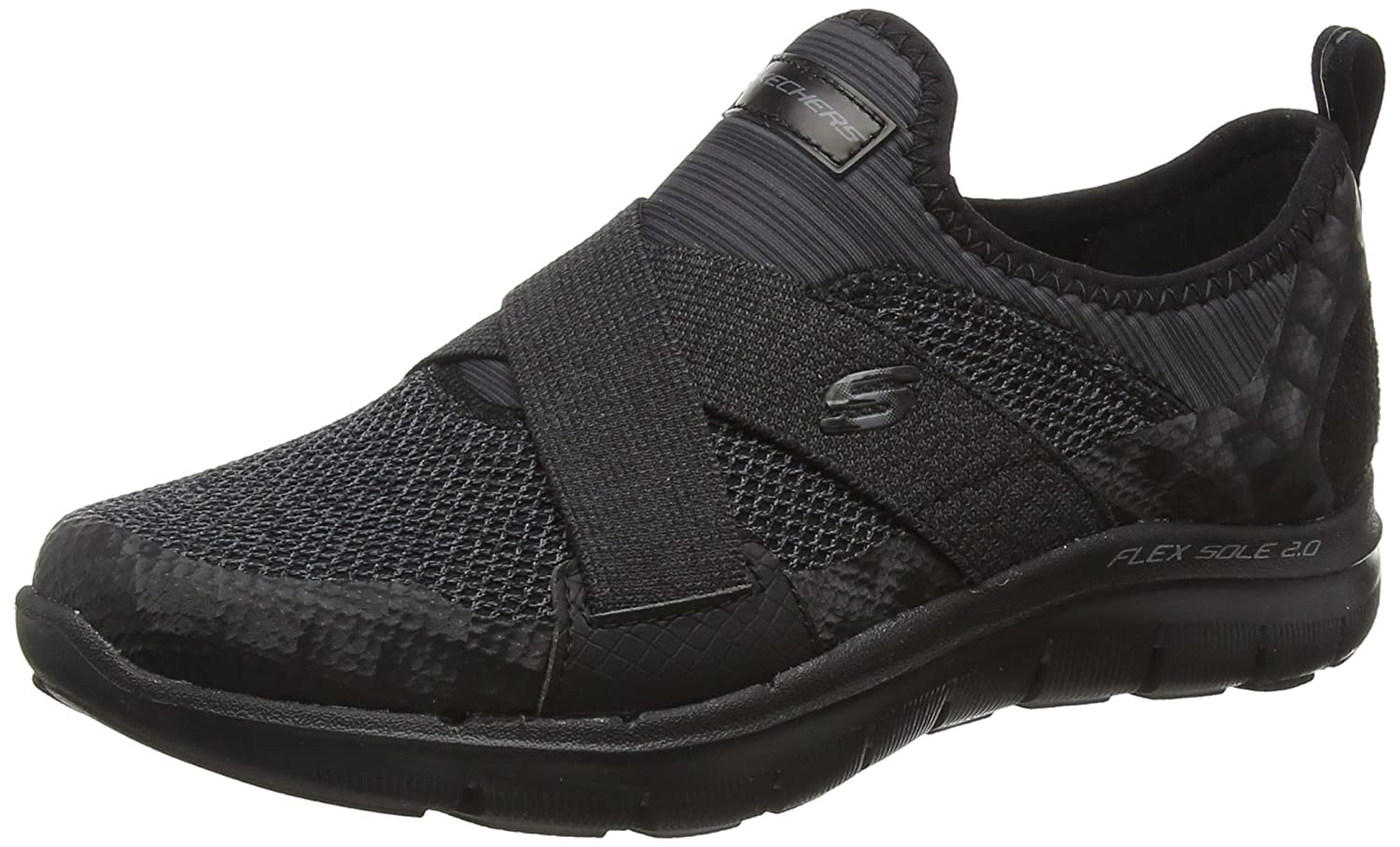 Skechers Women's Flex Appeal New Image Sneaker B01ET25HWA 5.5 B(M) US|Black
