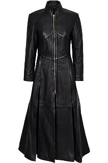 Unicorn Women Full Length Real Leather Coat Jacket Gothic Emo #M5