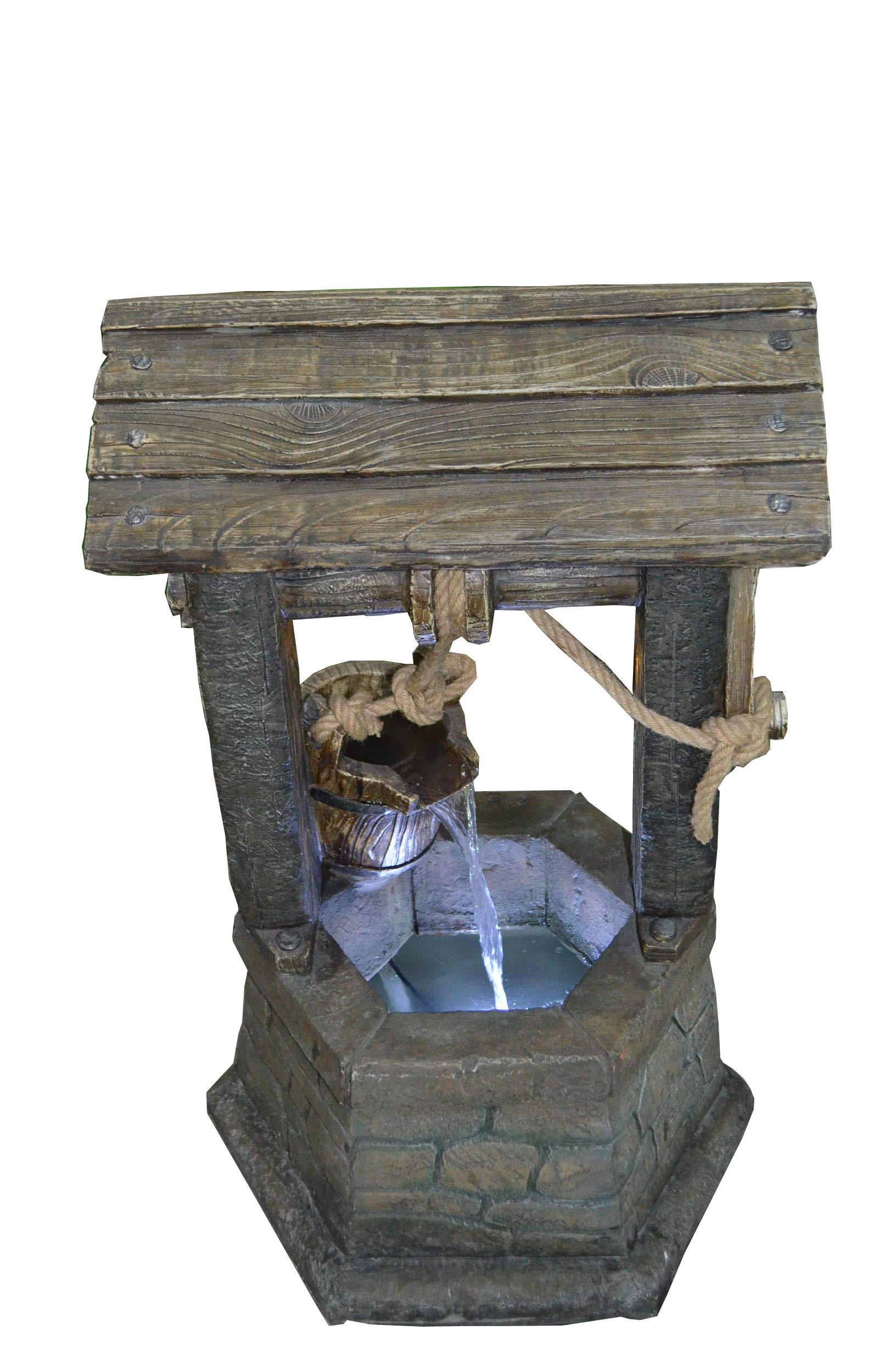 Hi-Line Gift Ltd Fountain- Wishing Well with Pouring Bucket & LED Light by Hi-Line Gift Ltd. (Image #5)