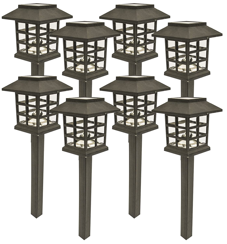 amazoncom sogrand 8pcs pack solar lights outdoor light