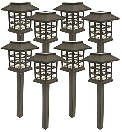 Sogrand 8pcs Pack,Solar Lights Outdoor Light,Landscape Lighting,Holiday  Last