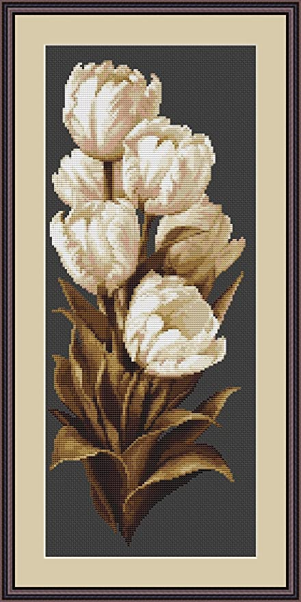 Luca-S Praying Hands Counted Cross Stitch Kit 18 Count Beige Aida