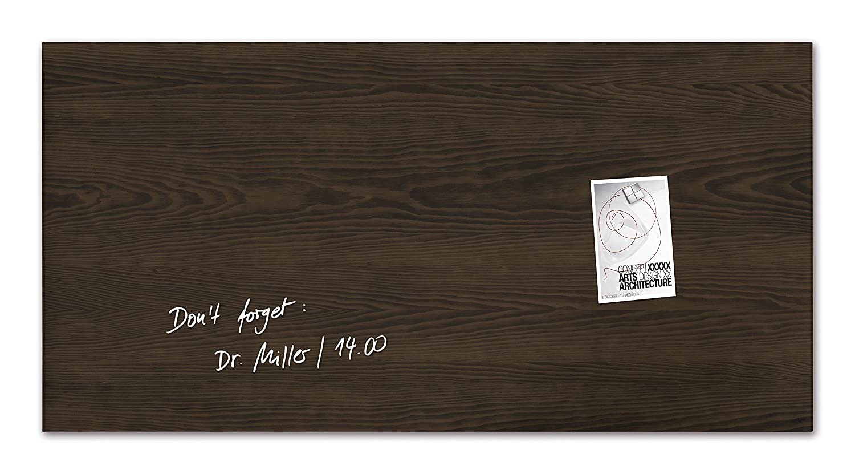 Sigel GL259 Glas-Magnetboard 91 x 46 cm Dark-Wood, Holzoptik   Magnettafel artverum - weitere Designs Größen